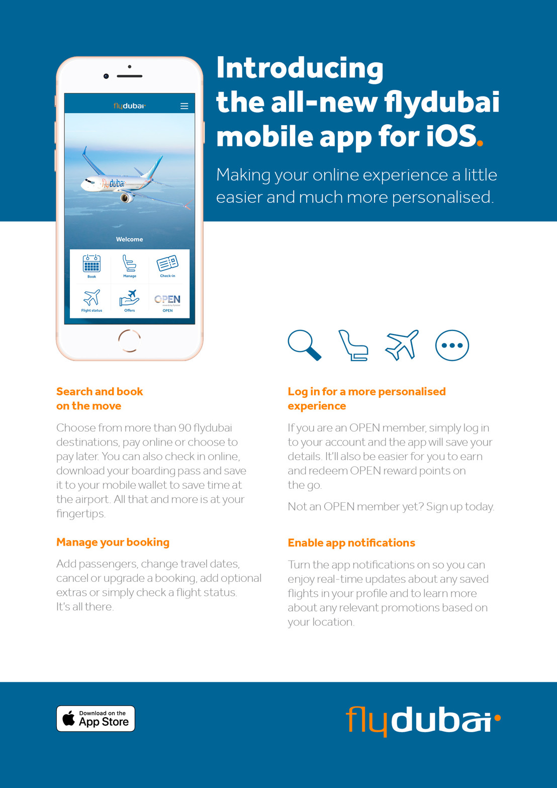 Introducing the all new flydubai mobile app for iOS