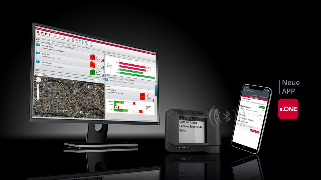 s.QUAD Pager mit s.ONE App: Die Zukunft der Alarmierung