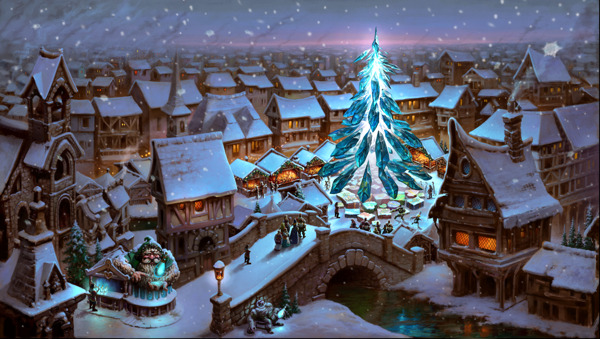 "Preview: Presents, Snow and ""Santa Yeti"": Winter Events in Forge of Empires, Elvenar and Grepolis"