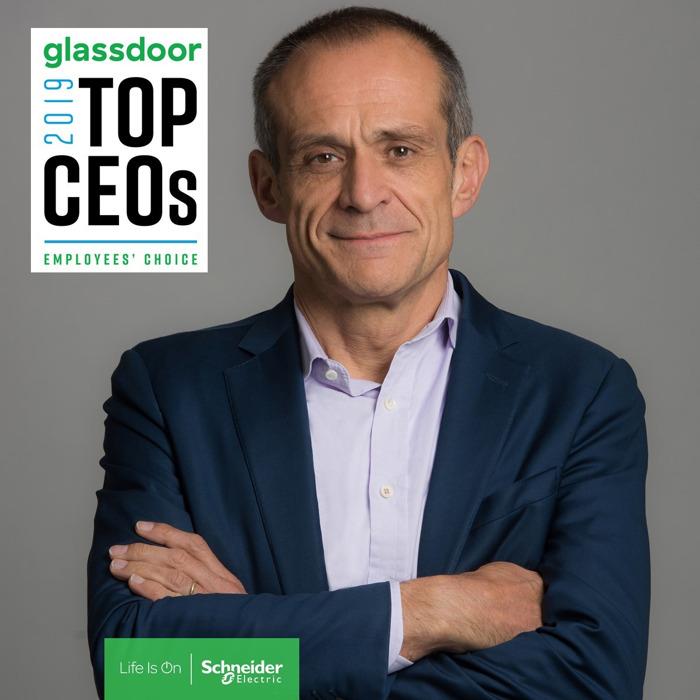 Jean-Pascal Tricoire nommé dans le Top des PDG 2019 de Glassdoor
