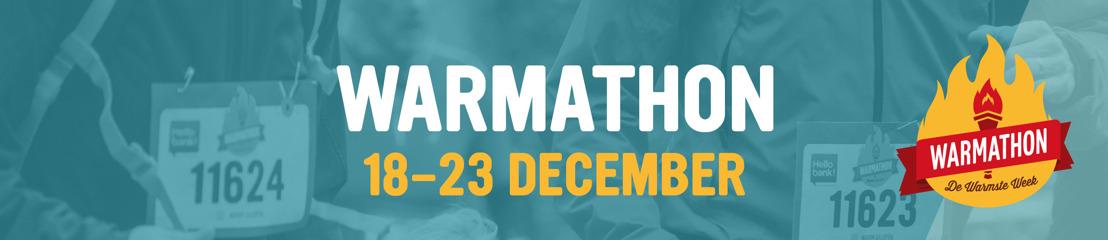 Loop mee met de Warmathon en steun 1 van de meer dan 1000 goede doelen van De Warmste Week