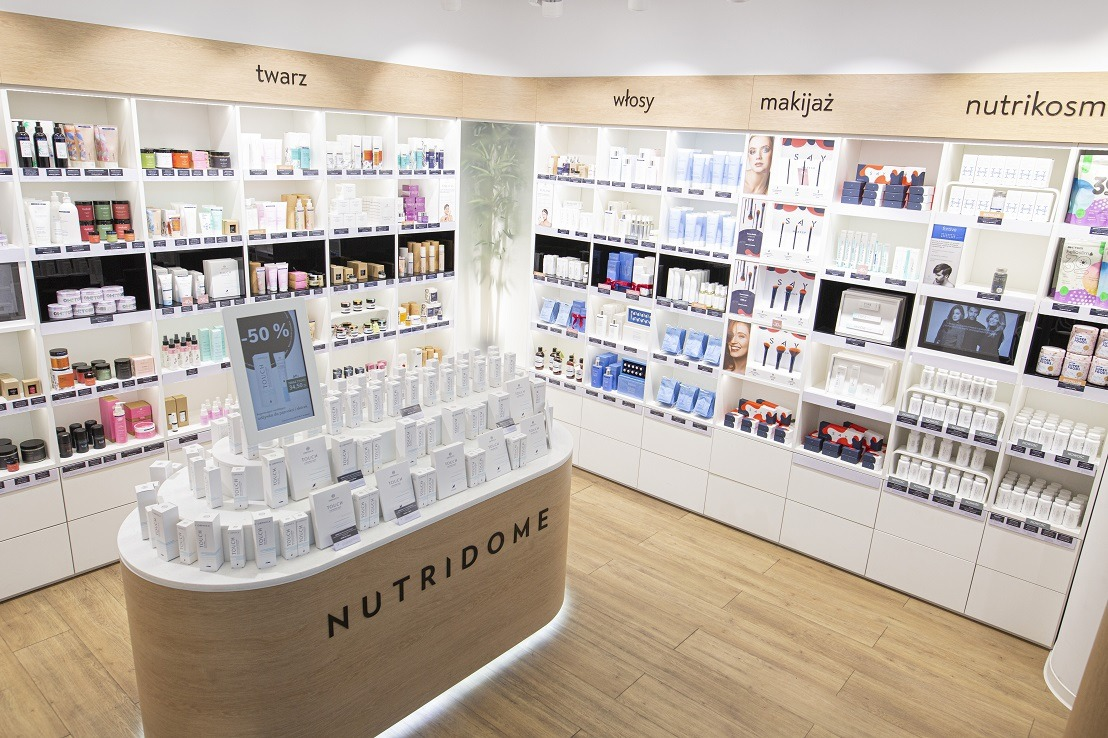 Kuratorski wybór marek kosmetycznych w NUTRIDOME