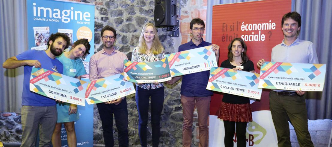 Lauréats 2018 du Prix de l'Economie sociale