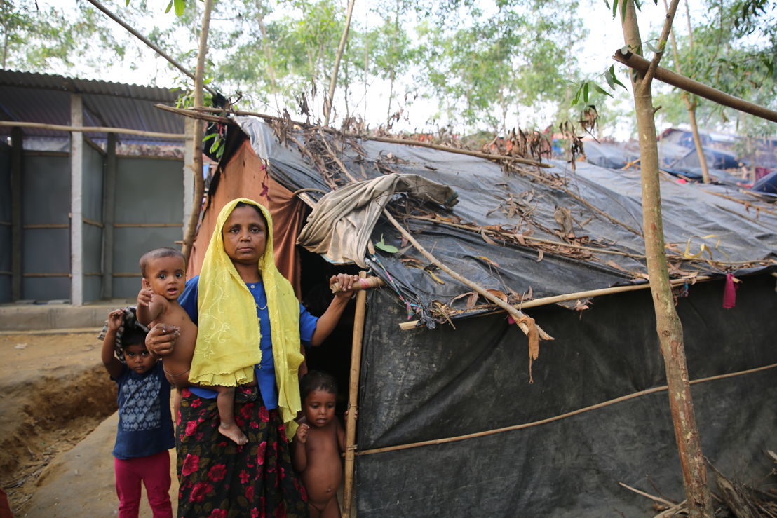Tasnimarkhola camp: conditions for Rohingya refugees living in the camps in Bangladesh are grim. Credit: Mohammad Ghannam/MSF