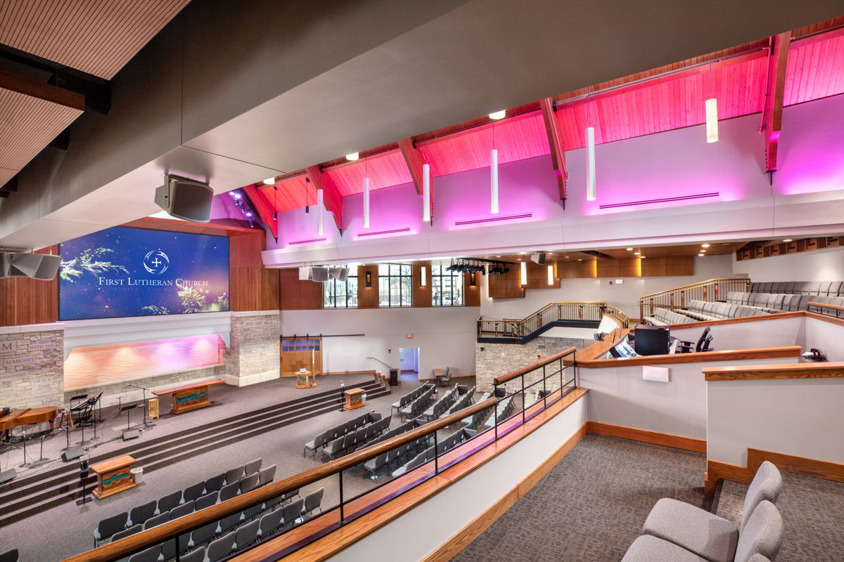 First Lutheran Church Celebration Center Balcony to Stage