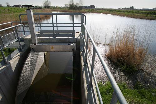 Regenwaterbuffering buiten het rioolstelsel in Lichtervelde (foto Jan Locus)