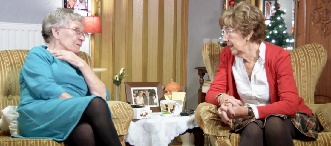 Albertine en Mathilde Hallo televisie! (c) VRT