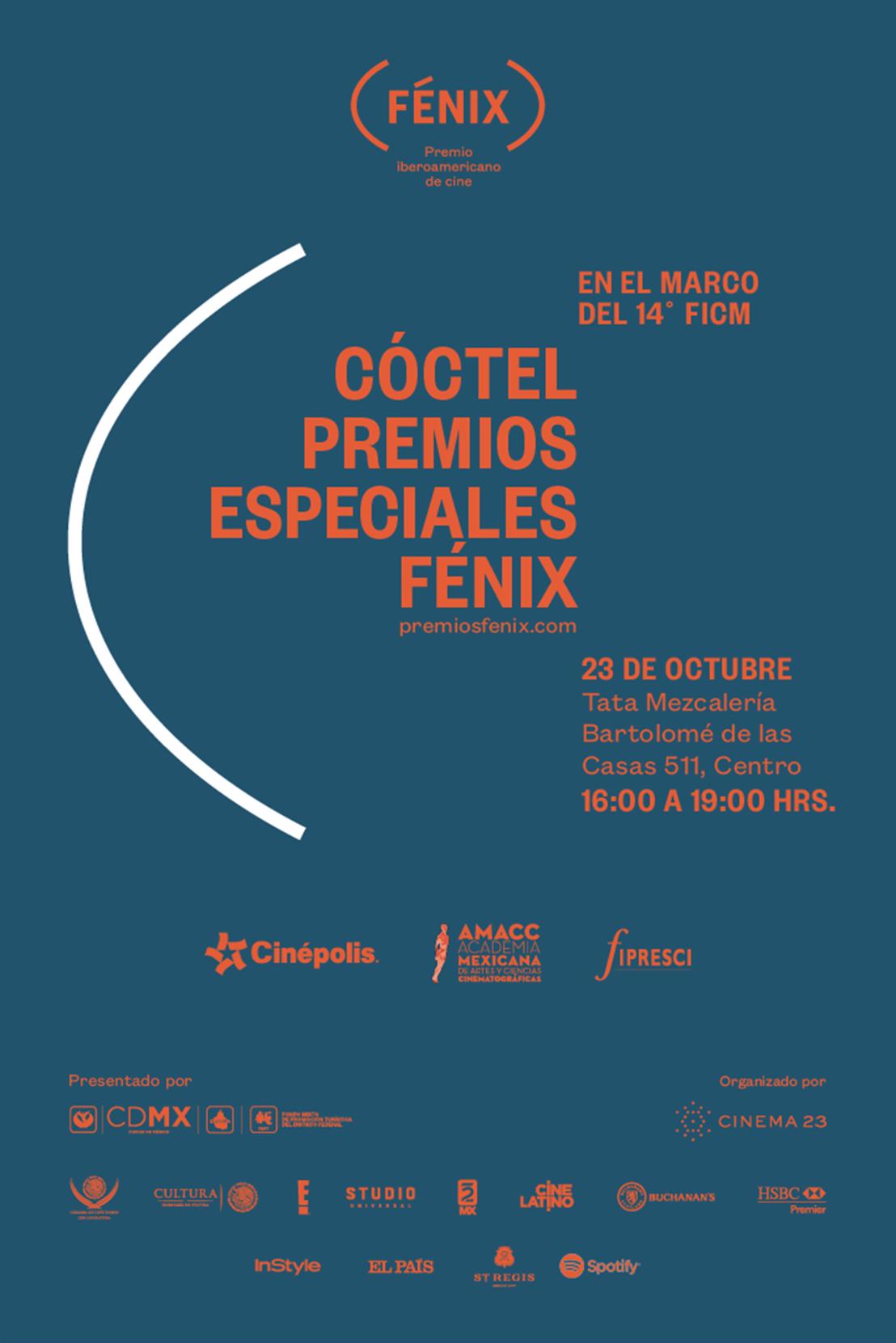 Invitación cóctel Premios Especiales Fénix