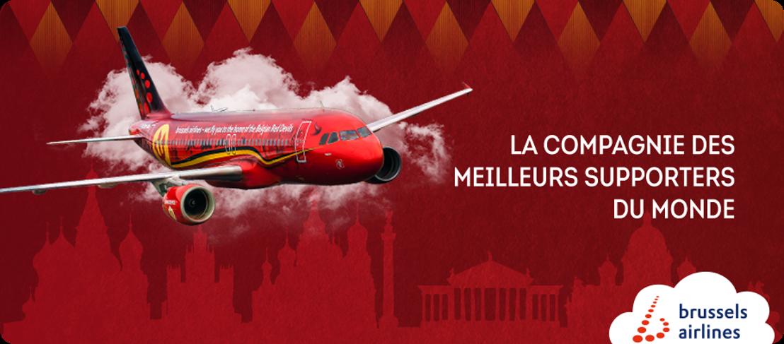 Brussels Airlines opère un fan flight vers la Russie pour les huitièmes de finale de la Coupe du Monde