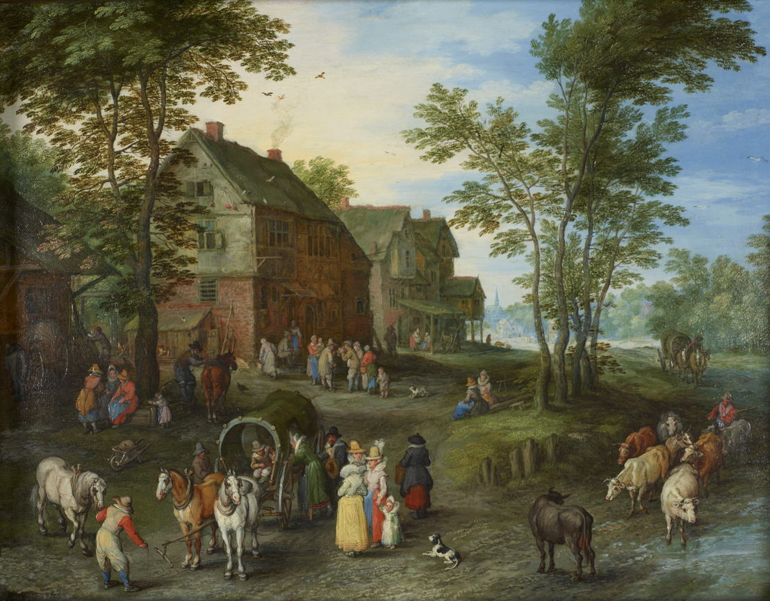 Jan Breughel de Oude, Dorpslandschap, 1613 - 1617 © London, Guildhall Art Gallery