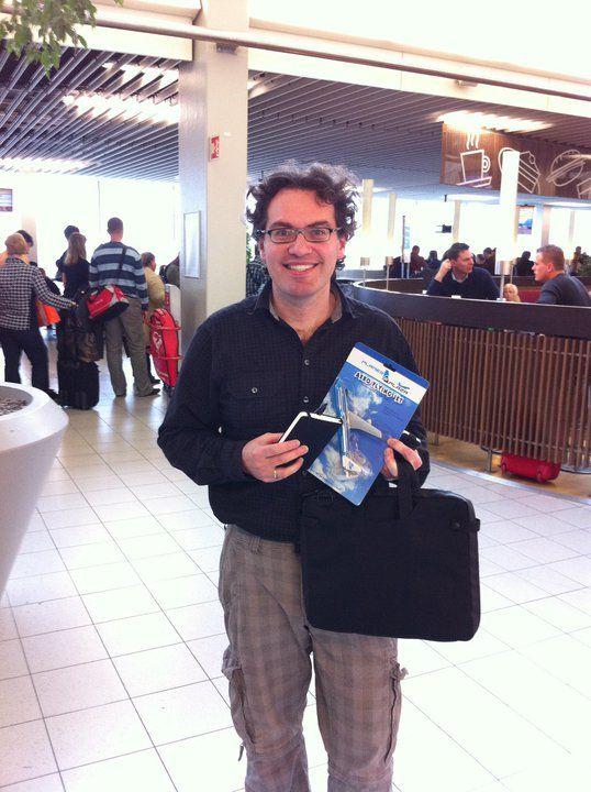 Een notebook voor Dennis om tijdens de conferentie inspiratie in vast te leggen.