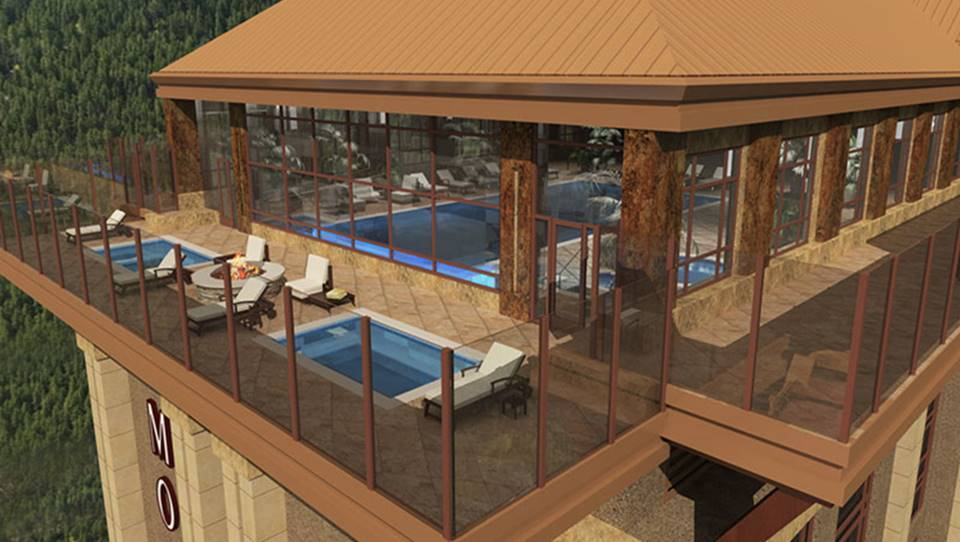 Rendering of the new roof top pool and spa on the 23rd story of the new Monarch Casino Resort Spa