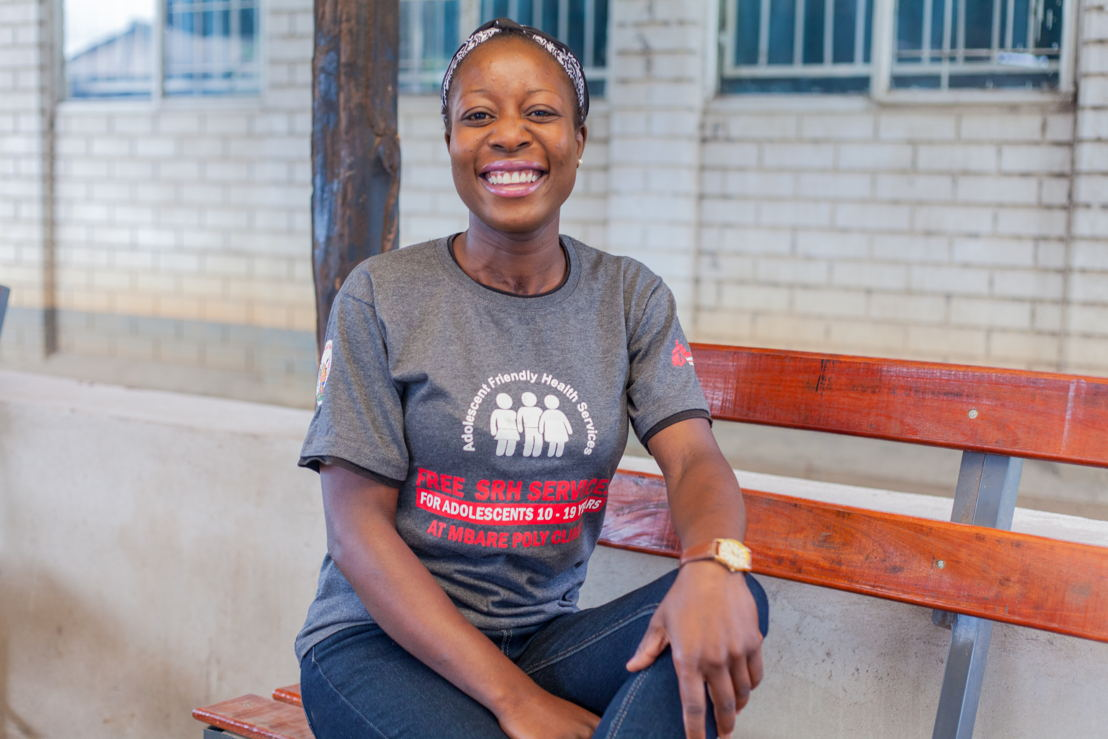 "Tapiwa, MSF peer educator in MSF's 'adolescent friendly corner' at the Edith Opperman clinic in Mbare, Harare.<br/><br/><br/>""Many adolescents suffer in silence.""<br/><br/><br/>MSF, alongside the City of Harare Health Department, has run an adolescent-friendly corner at the Edith Opperman clinic in Mbare, Harare, since November 2015. MSF provides adolescent- friendly services that include general health check-ups, HIV testing and counselling, screening for sexually transmitted infections (STIs), and family planning, all free of charge. Photographer: Charmaine Chitate"
