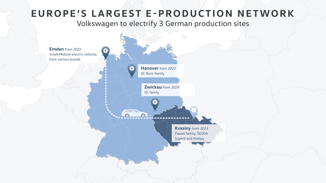 Volkswagen redefines plant assignment and focuses more closely on multi-brand plants