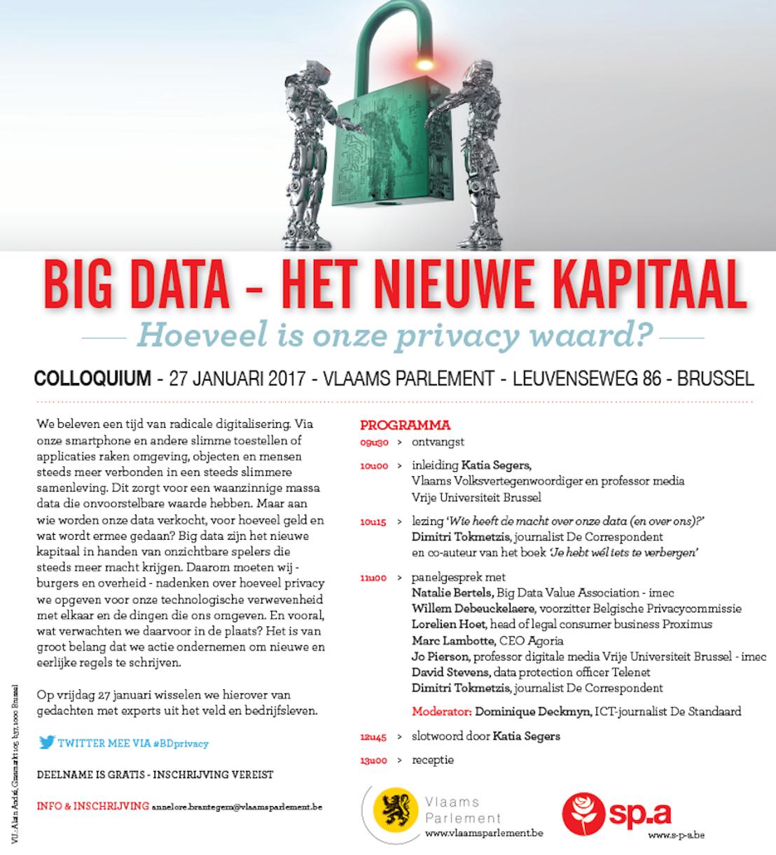 Uitnodiging colloqium: Big Data, het nieuwe kapitaal