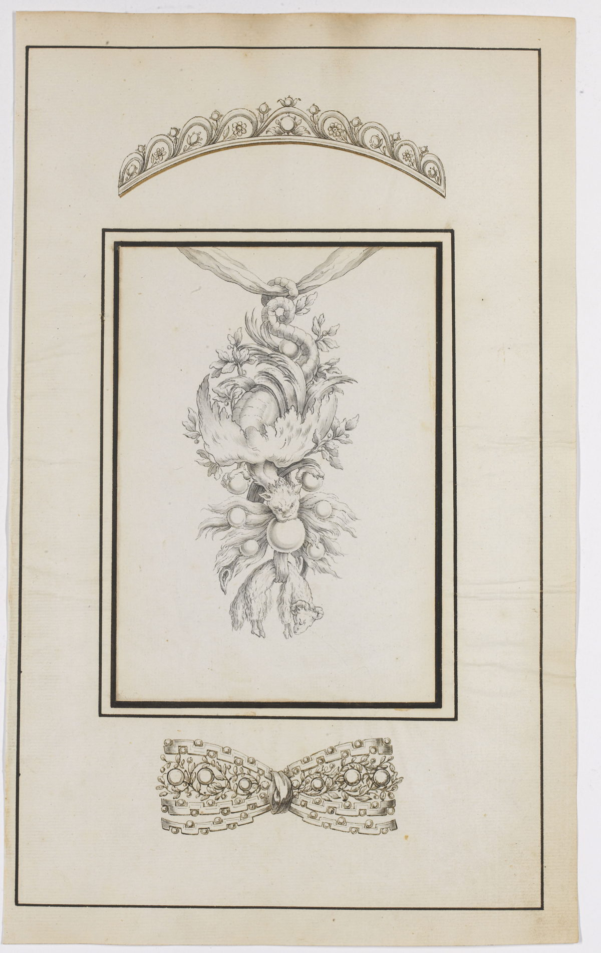 Design for the insignia of the Order of the Golden Fleece Ontwerp (c) Sotheby