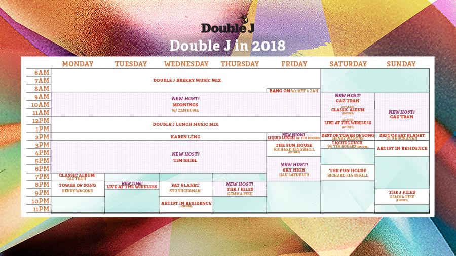 Double J 2018 Schedule