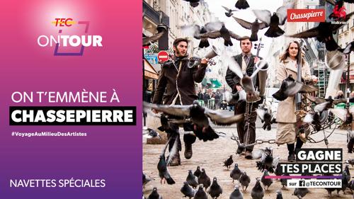 Profitez de la magie du Festival des artistes de Chassepierre grâce aux navettes TEC !
