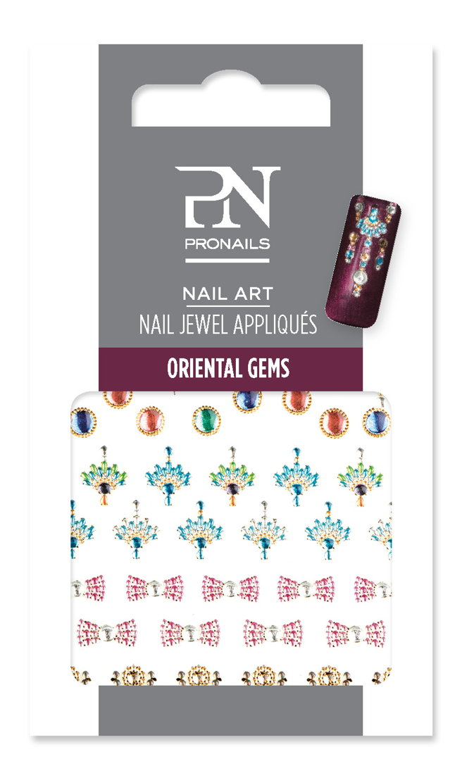 Nail Jewel Oriental Gems