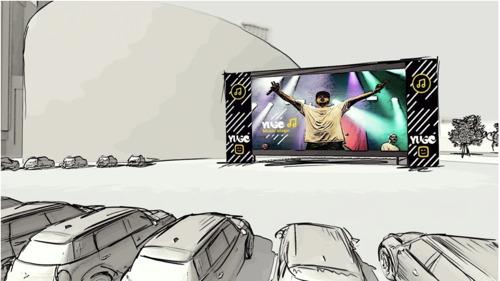 Blu Samu et 22heures30 se produisent sur scène à l'occasion du concert drive-in de Telenet YUGO