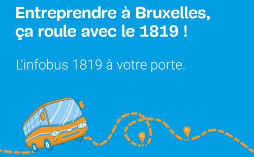 L'Infobus du 1819 : le nouveau service de proximité de hub.brussels part dès aujourd'hui à la rencontre des entrepreneurs bruxellois
