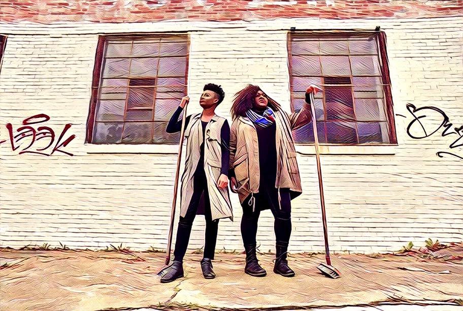 [L-R] Jasmine Ellis &amp; Candice McLellan  <br/>Photo by Chris Bartelski