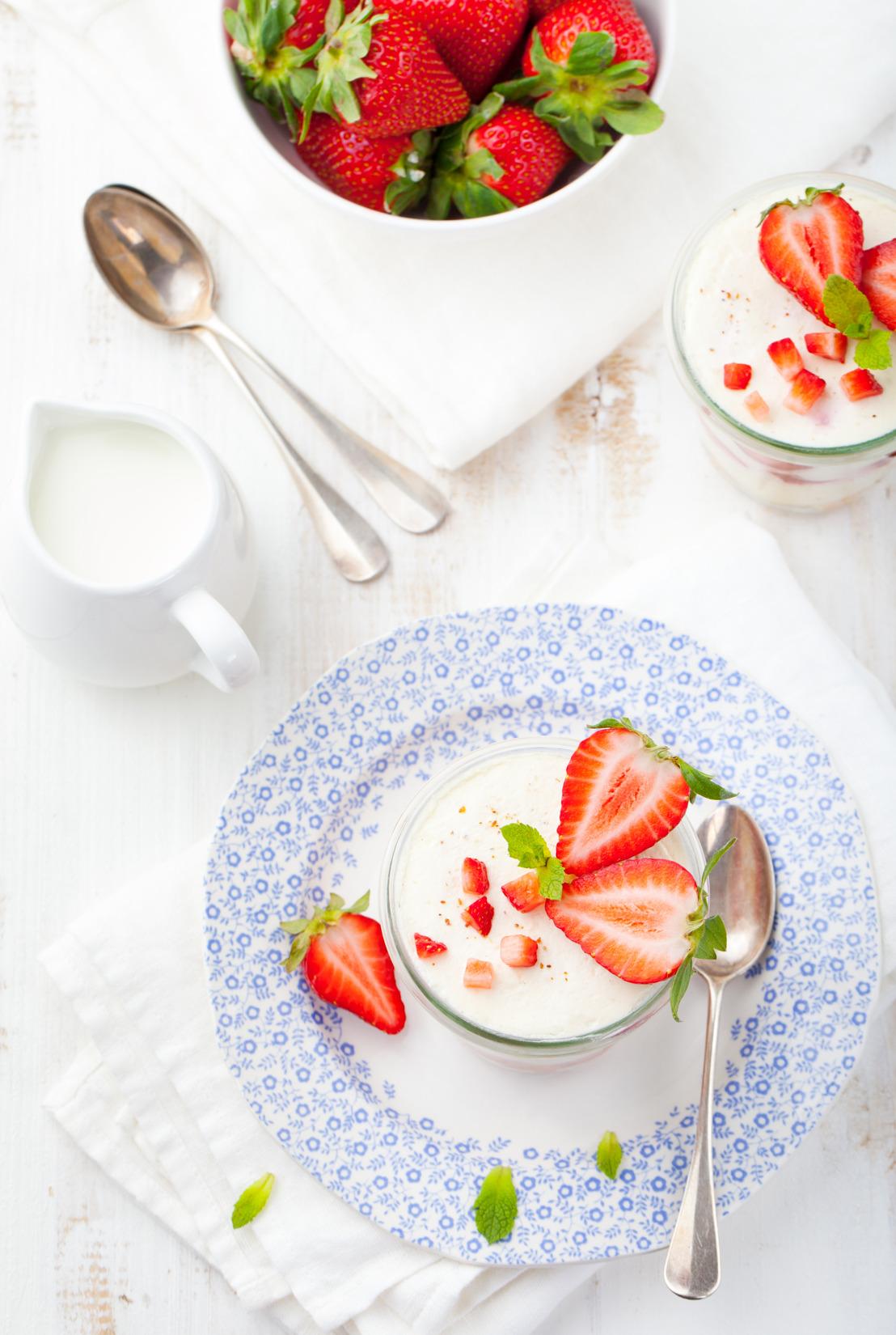 Panna cotta de yoghurt natural
