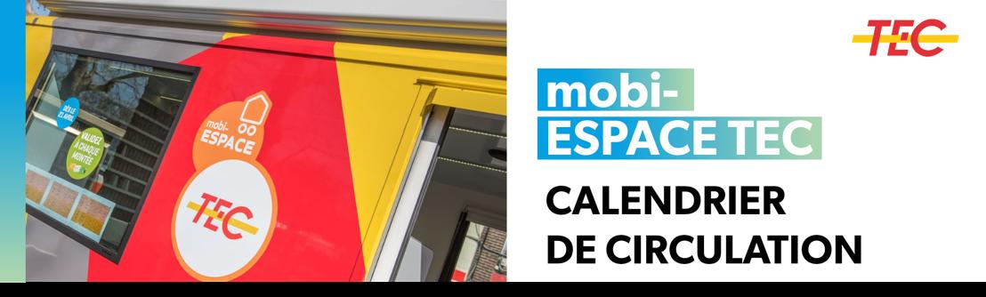 mobi-ESPACE TEC   Calendrier de circulation