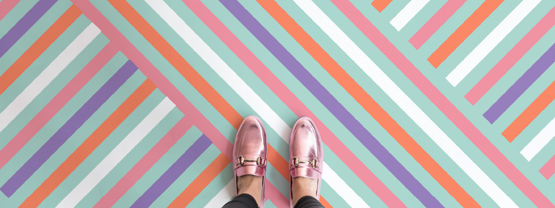 Complete an unapologetically joyful home with 'soda pop' flooring