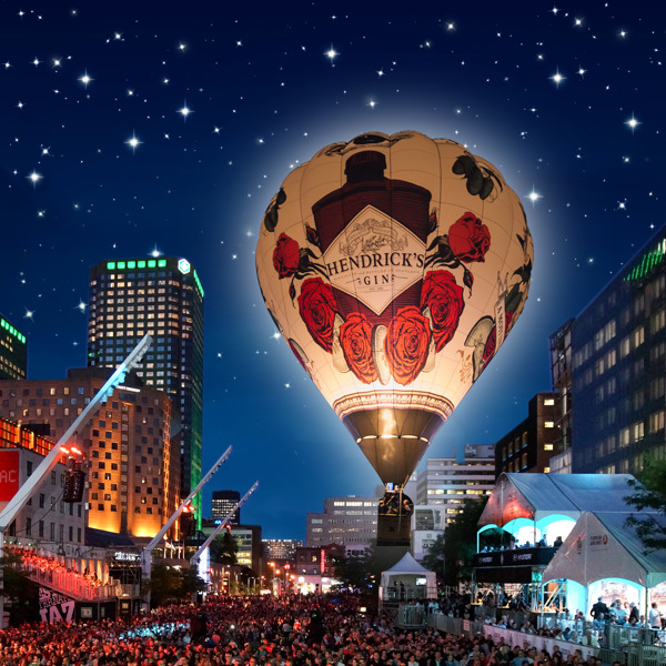 Preview: HENDRICK'S GIN PRESENTS AN UNUSUAL AND WHIMSICAL DUET OF SOAR AND SCORE AS ITS RECORD BREAKING E.L.E.V.A.T.U.M. LIGHTS UP THE SKIES AT THE 40th FESTIVAL INTERNATIONAL DE JAZZ DE MONTRÉAL