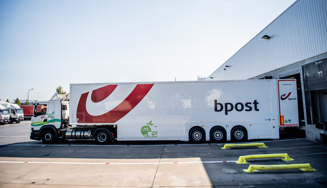 bpost group reduces truck journeys by 30% with double deck trailers. A first in Belgium's parcels sector