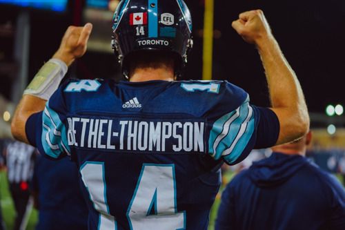 ARGOS QB BETHEL-THOMPSON AND WR GREEN NAMED CFL TOP PERFORMERS FOR WEEK 8