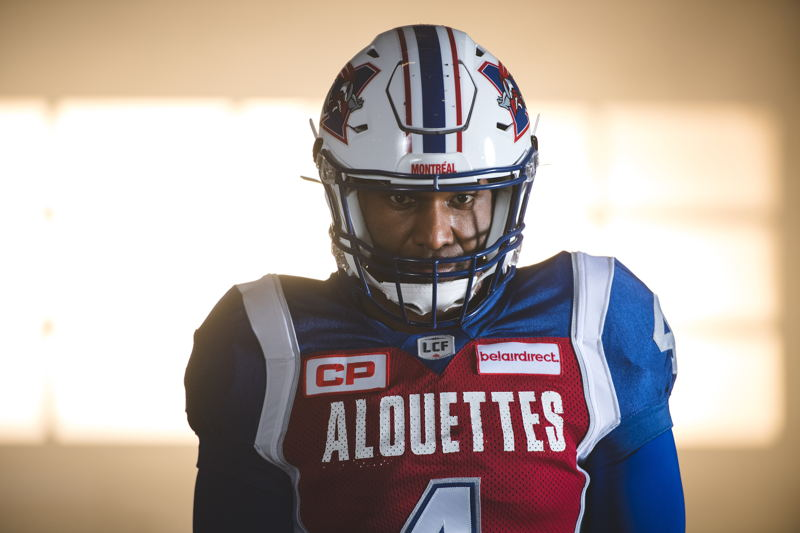 Darian Durant at the TSN/adidas content shoot. Photo credit: Johany Jutras/CFL