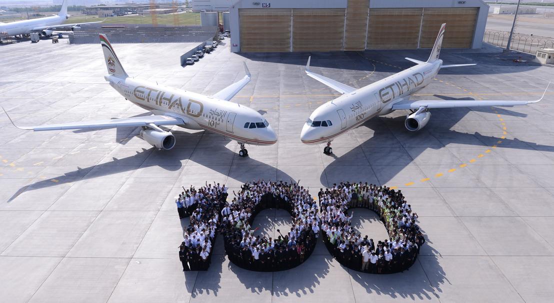 Etihad Airways ontvangt honderdste vliegtuig