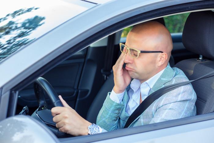 Vermoeidheid achter het stuur