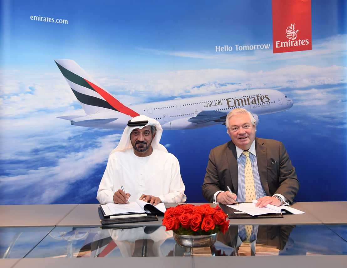 Emirates orders 36 additional Airbus A380 aircraft worth US$16 billion. HH Sheikh Ahmed bin Saeed Al Maktoum, Chairman and Chief Executive, Emirates Airline and Group signed the agreement today with John Leahy, Chief Operating Officer Customers, Airbus Commercial Aircraft at Emirates' Headquarters in Dubai.