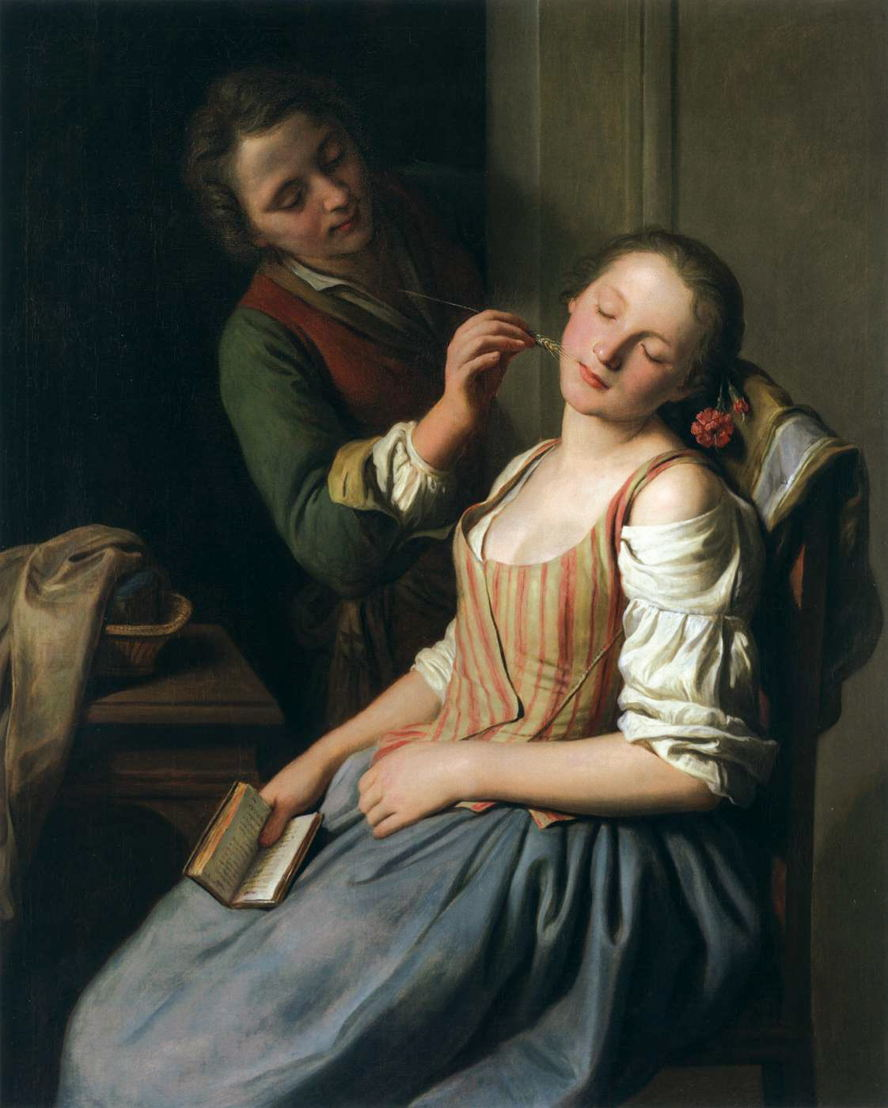 David Weber-Krebs - The Guardians of Sleep - 15>16/12 © Pietro Antonio Rotari, 'Sleeping Girl with Her Beau' (1750-55), oil on canvas, 106 x 84 cm. Alte Pinakothek, Munich
