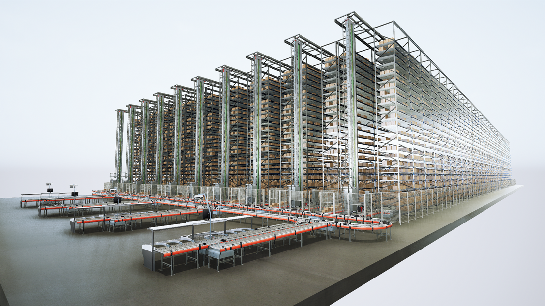 The new generation of Mustang storage and retrieval machines can be implemented in warehouses of up to 25 metres.