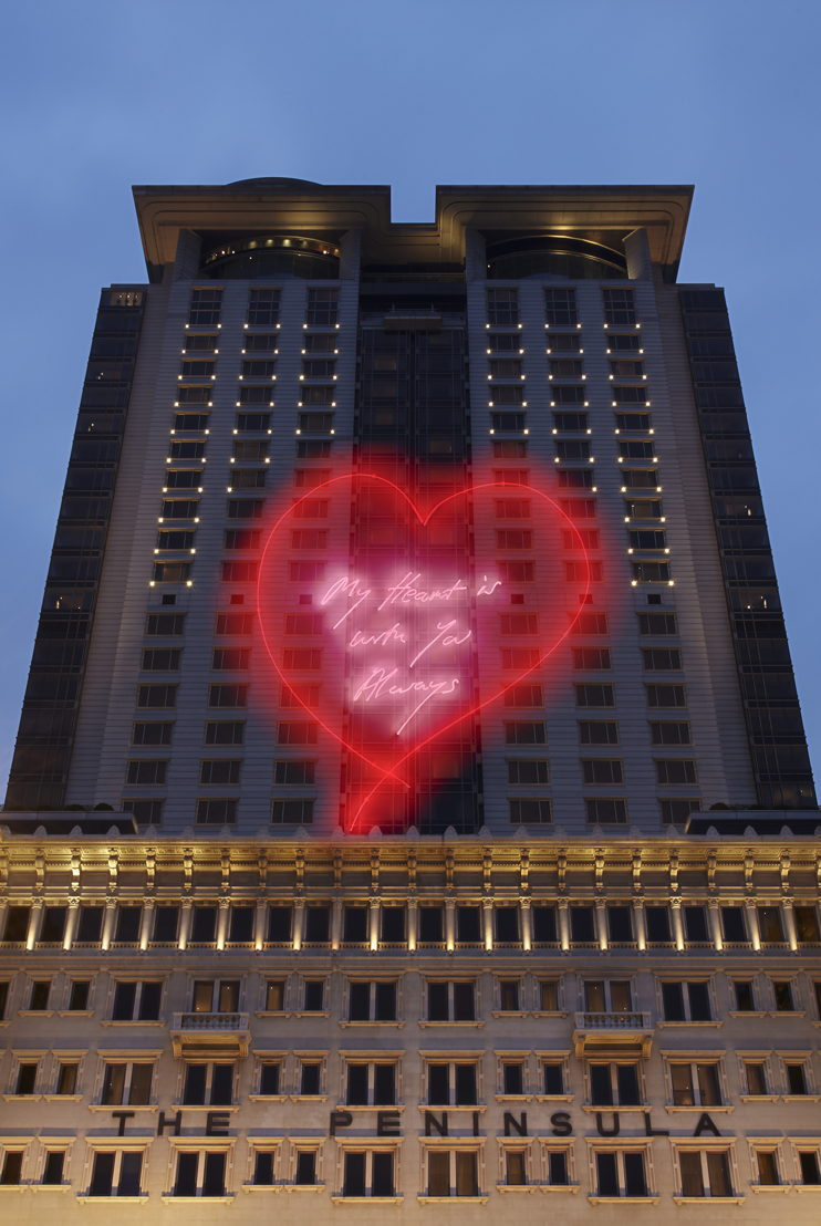 The Peninsula Hong Kong - My Heart is With You Always de Tracey Emin RA