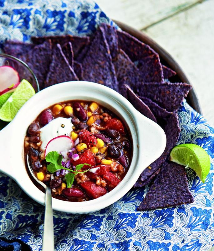 Chili vol met groenten