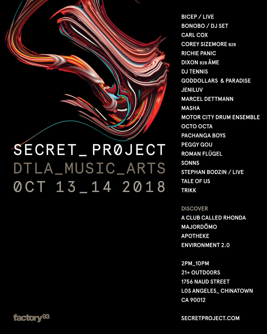 Secret Project Debuts In LA — 2 Days of House & Techno Paired With Top Cuisine