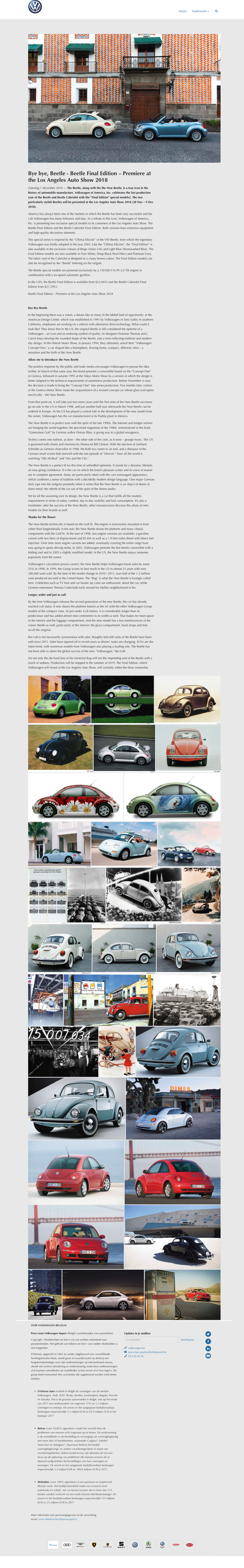 Bye bye, Beetle - Beetle Final Edition – Premiere at the Los Angeles Auto Show 2018
