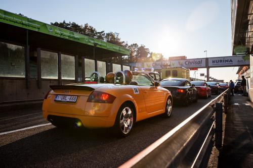 Belgische klanten vieren 20 jaar Audi TT in Zolder