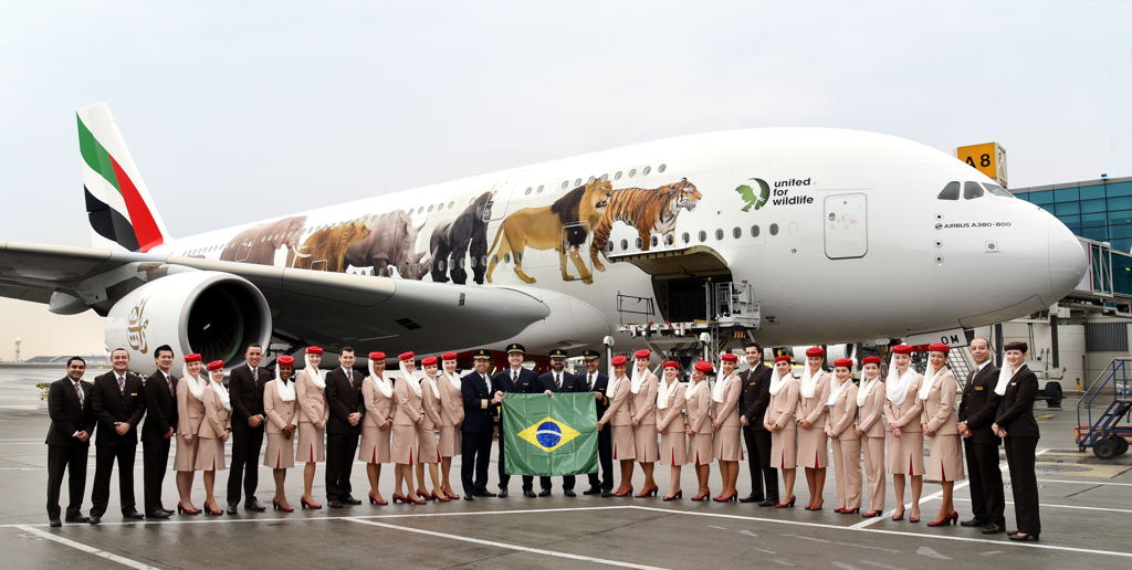 Emirates celebrates 10th year of connecting Brazil to the world