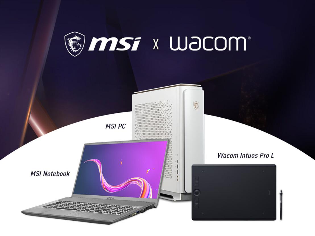 Kreative Kooperation: MSI mit Auftritt auf der WACOM Connected Ink 2020 und starkem Bundle-Angebot