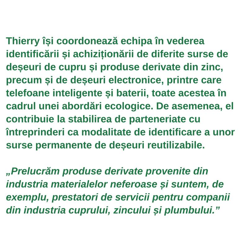 Profilul lucrătorului din sectoarele verzi - Thierry van Kerckhoven