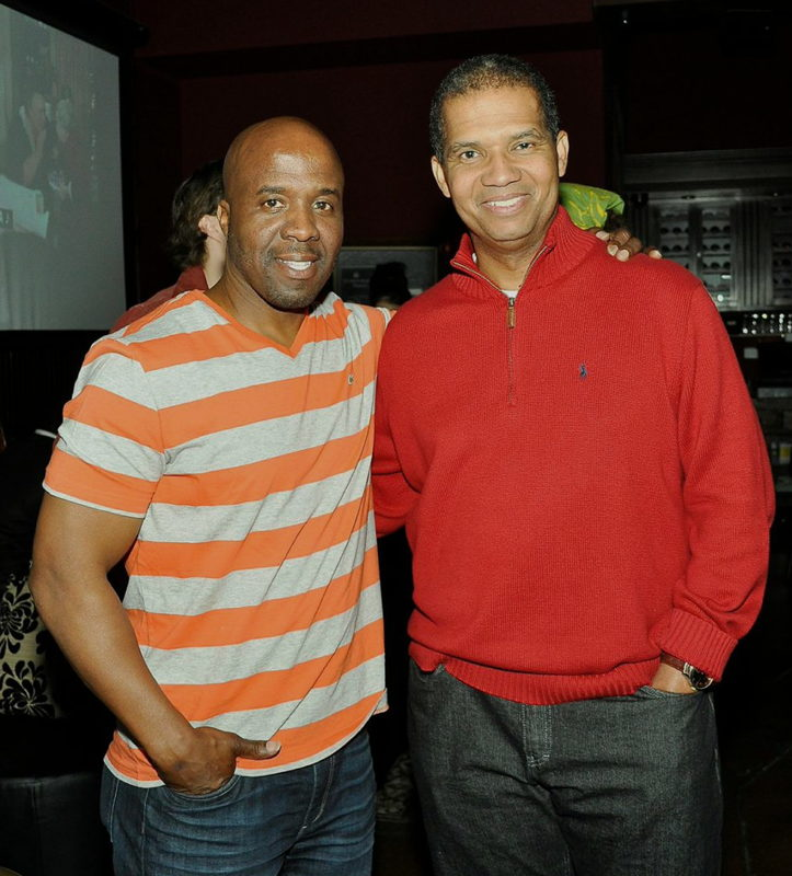 Screenwriter/producer Marvin Watkins and talent manager Earnest Harris.