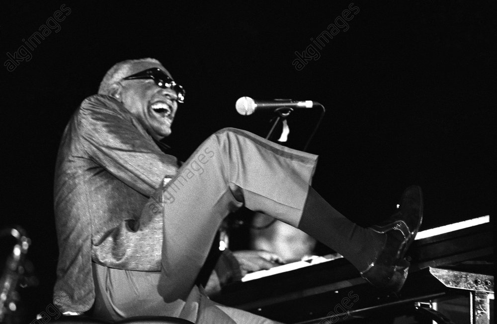 Ray Charles During a Concert at the Marciac Jazz Festival, France<br/>AKG3543107