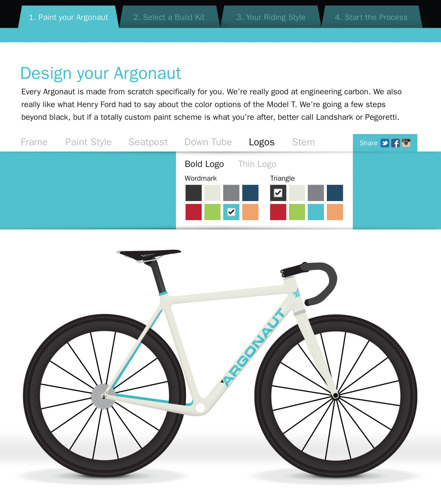 ARGONAUT CYCLES SIMPLIFIES CUSTOM PROCESS WITH ONLINE BIKE BULDER