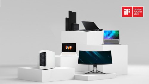Acer Wins iF Design Awards in 2021 for ConceptD and Predator Devices